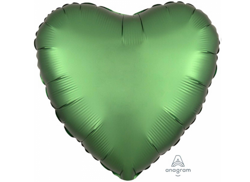 Heart Shaped Foil Balloon - Satin Luxe Emerald
