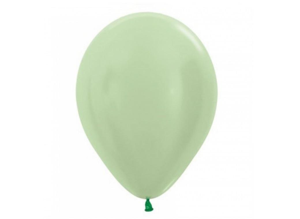 Satin Pearl Green Balloon - Single