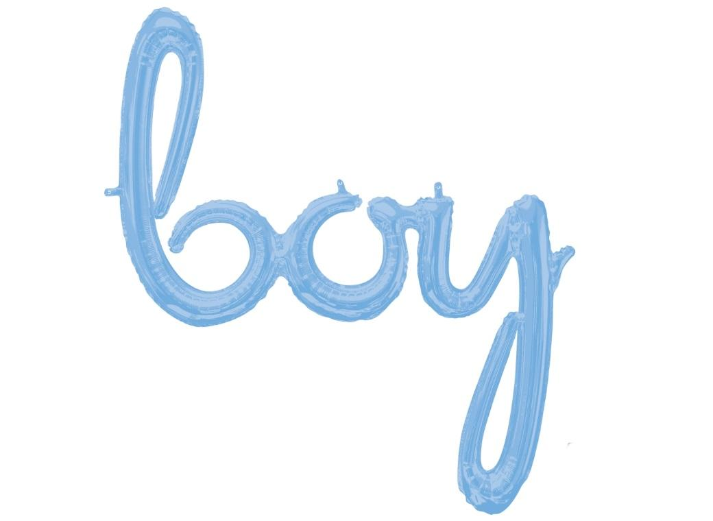 Script Balloon Pastel Blue Boy