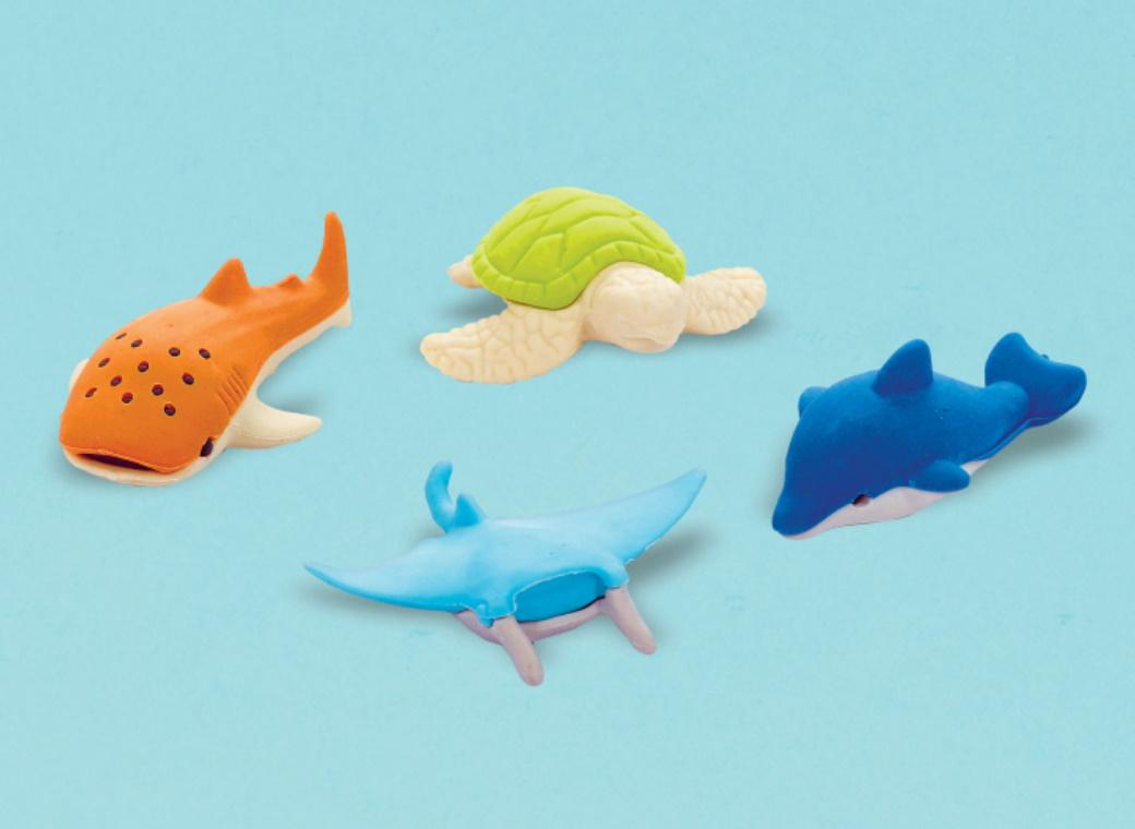 Sea Animal Erasers 12pk
