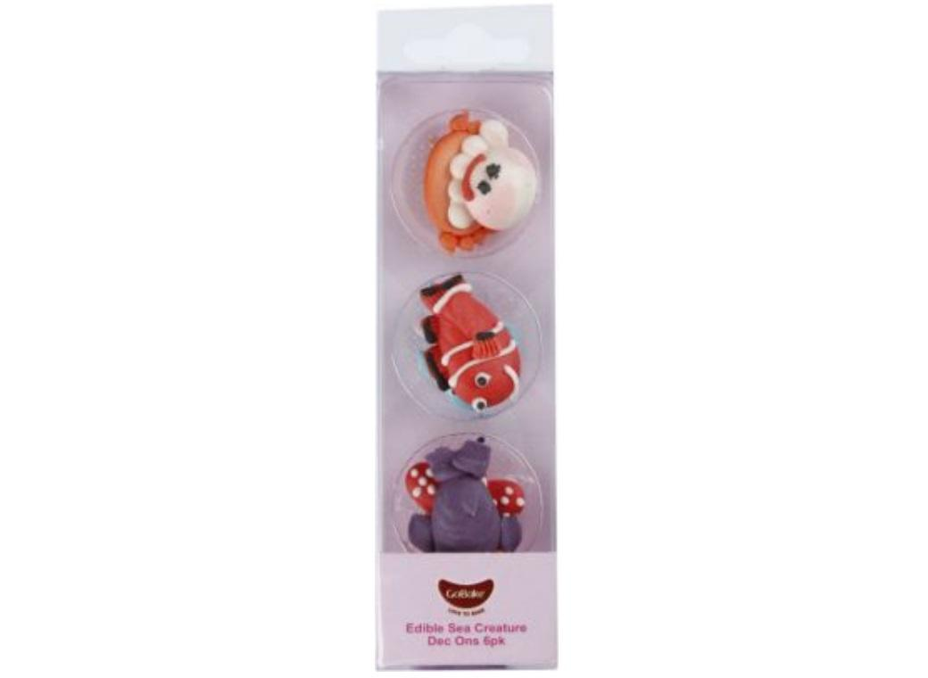 GoBake Dec Ons Novelty Sea Creatures - 6pk
