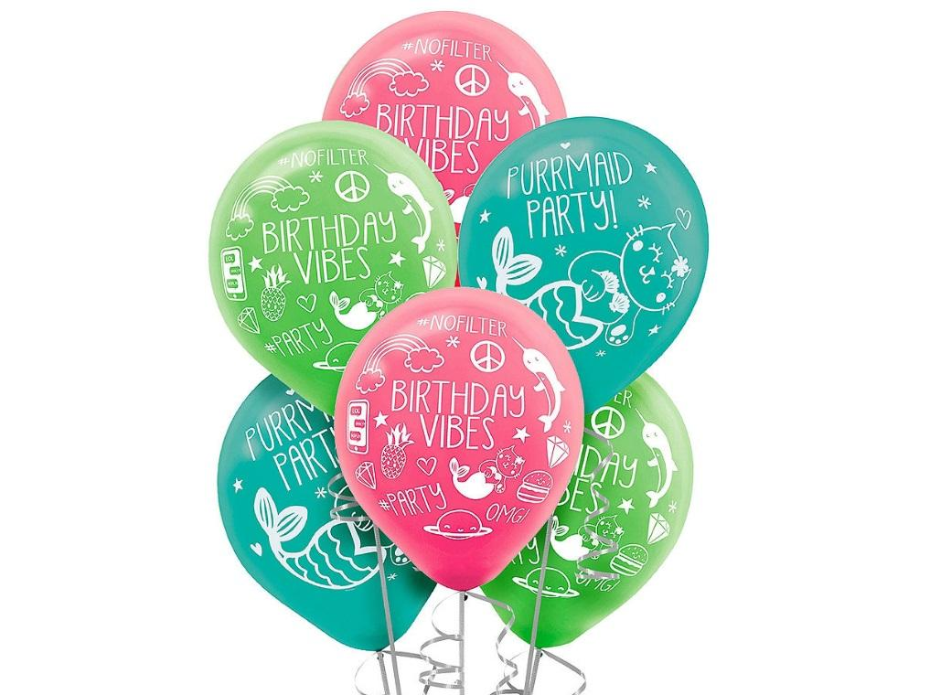 Selfie Celebration Balloons 6pk