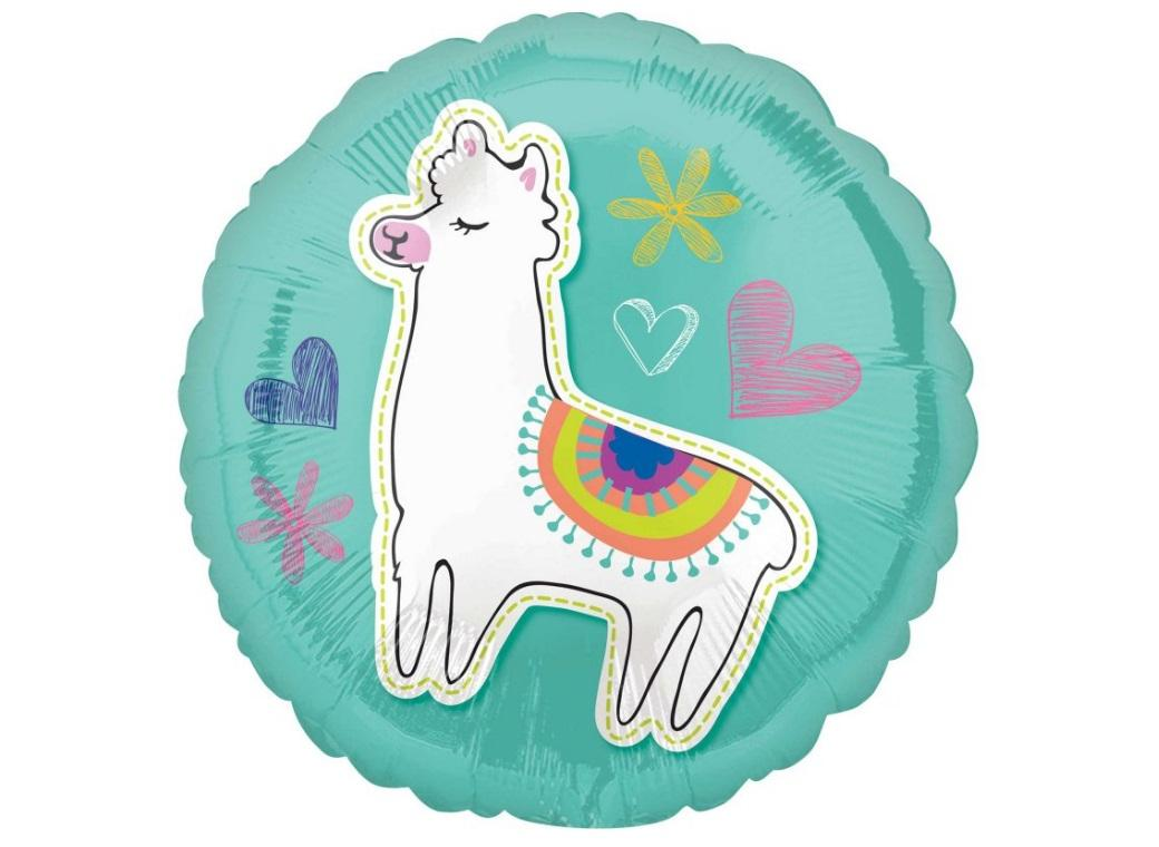 Selfie Celebration Llama Foil Balloon