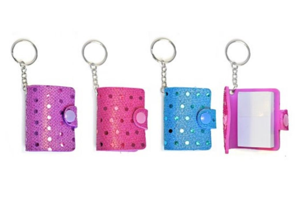 Sequin Notebook Keyrings