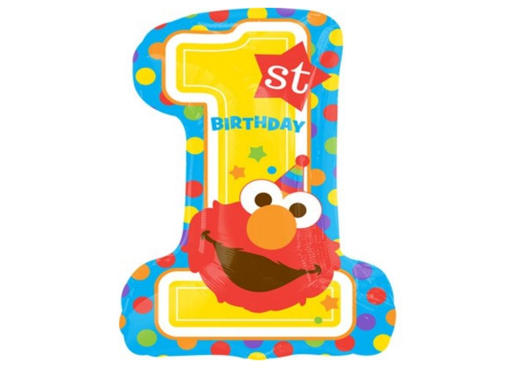 Sesame Street 1st Birthday Foil Balloon