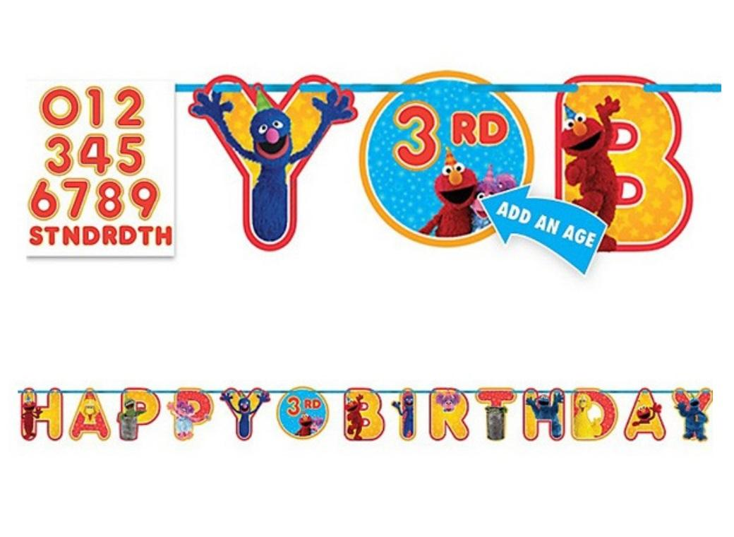 Sesame Street - 'Add-An-Age' Birthday Banner