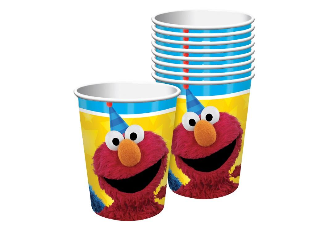 Sesame Street Cups Elmo & Cookie Monster 8pk