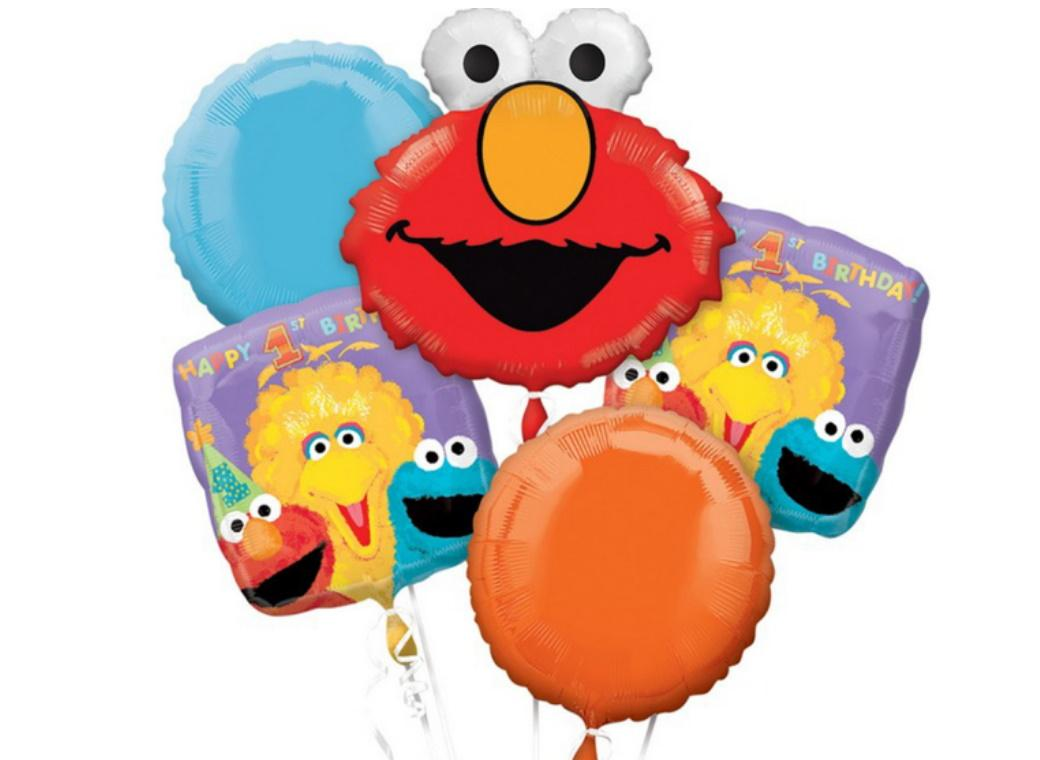 Sesame Street 1st Birthday Foil Balloon Bouquet