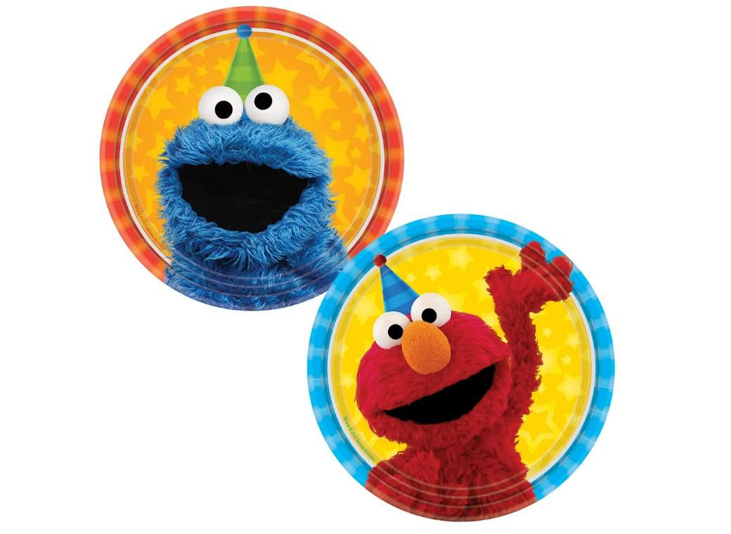 Sesame Street Lunch Plates Elmo Cookie Monster 8pk