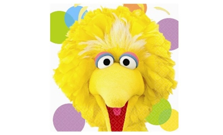 Sesame Street Lunch Napkins - Big Bird 16pk