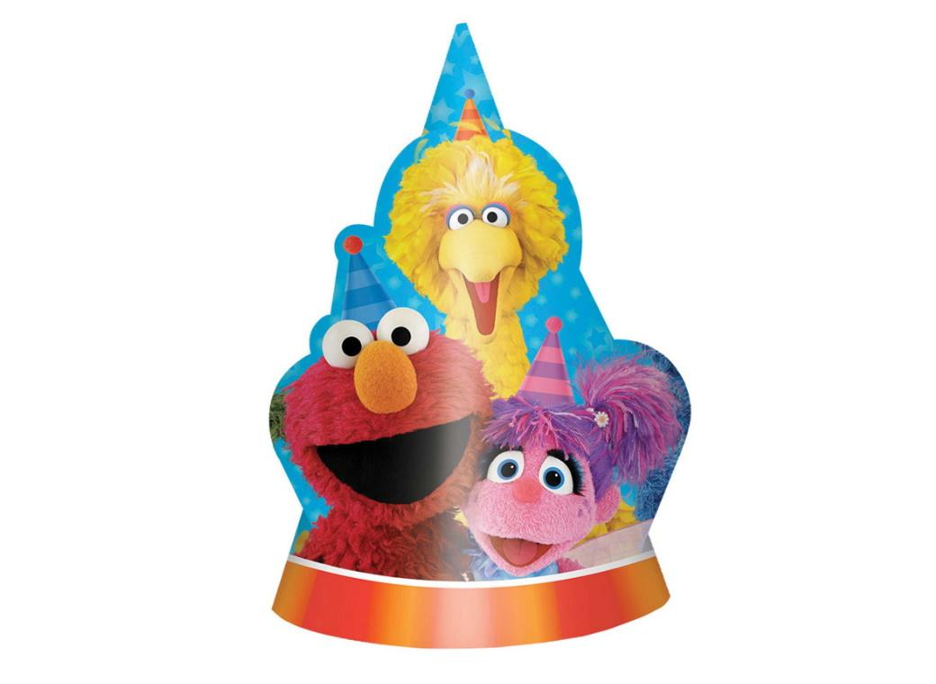 Sesame Street Party Hats 8pk
