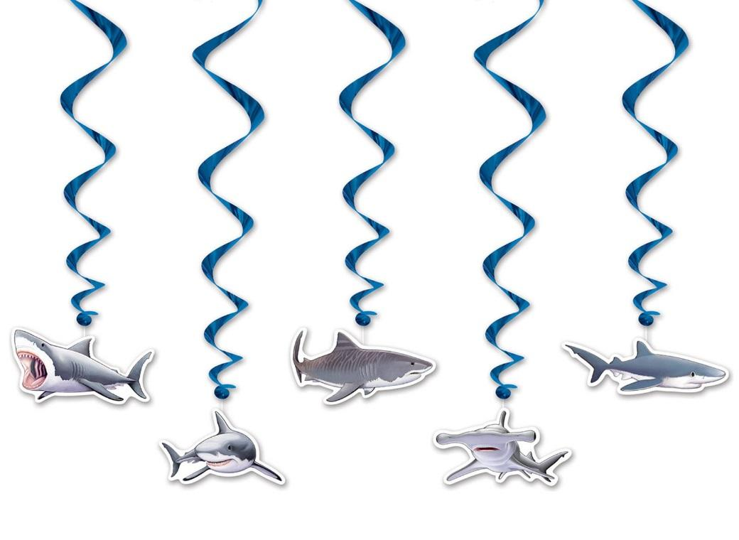 Shark Hanging Swirl Decorations
