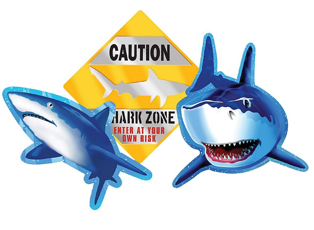 Shark Splash Cutouts 3pk