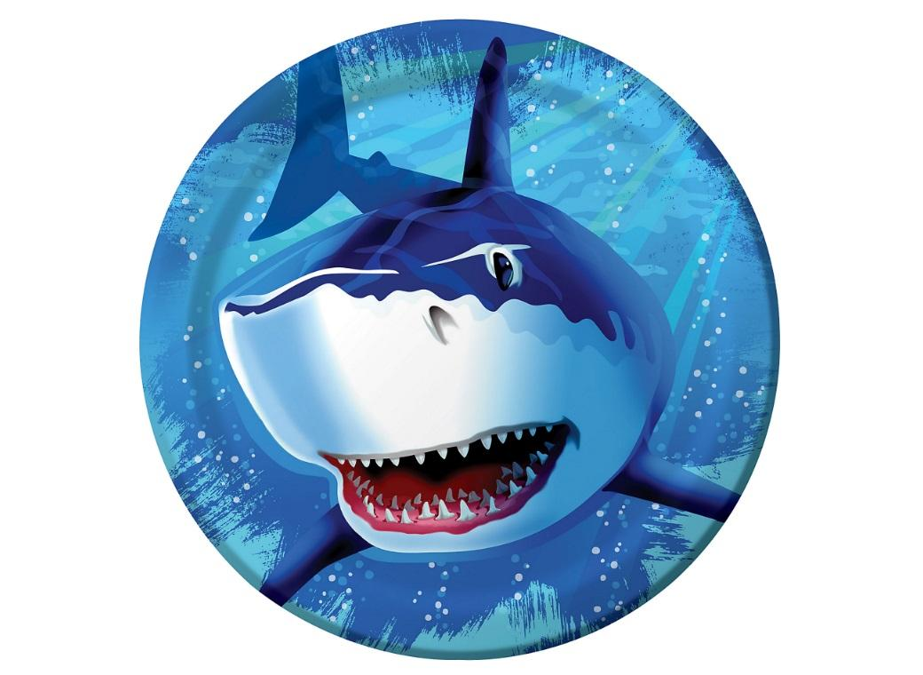 Shark Splash Dinner Plates 8pk