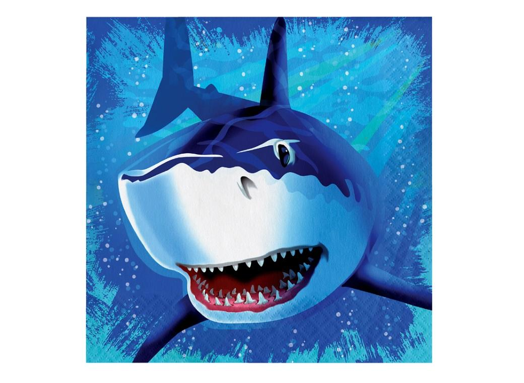 Shark Splash Lunch Napkins 16pk