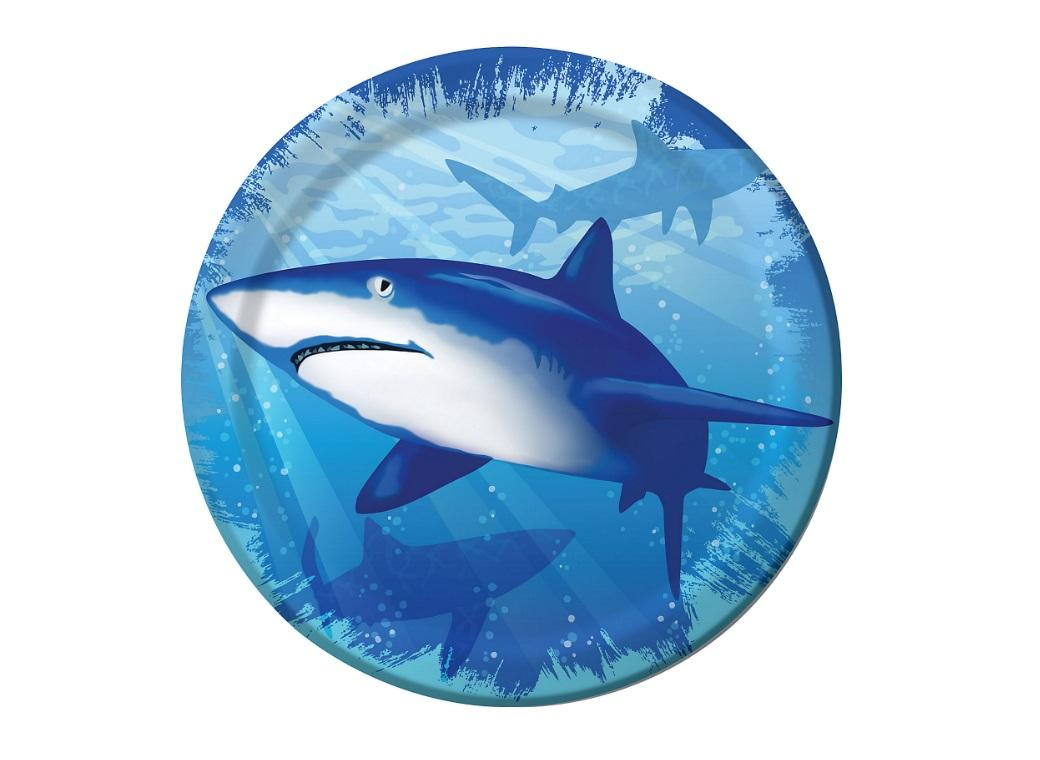 Shark Splash Lunch Plates 8pk
