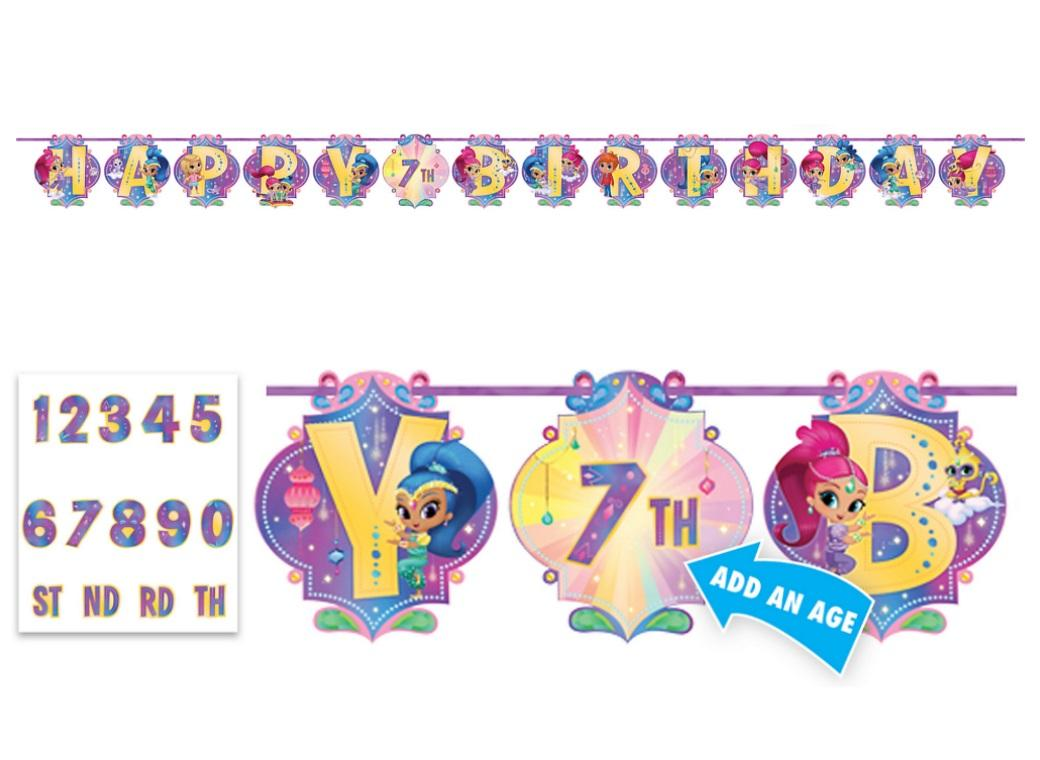 Shimmer & Shine Add an Age Banner