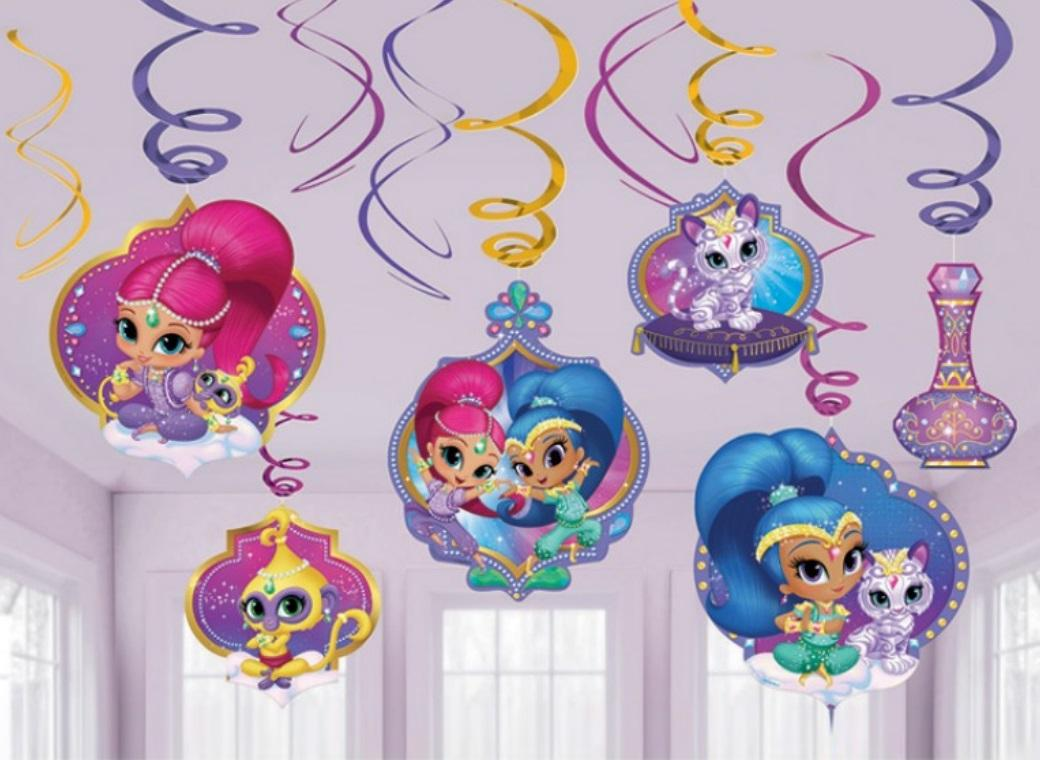 Shimmer&Shine Hanging Swirl Decorations