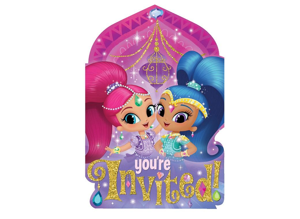 Shimmer&Shine Invitations 8pk