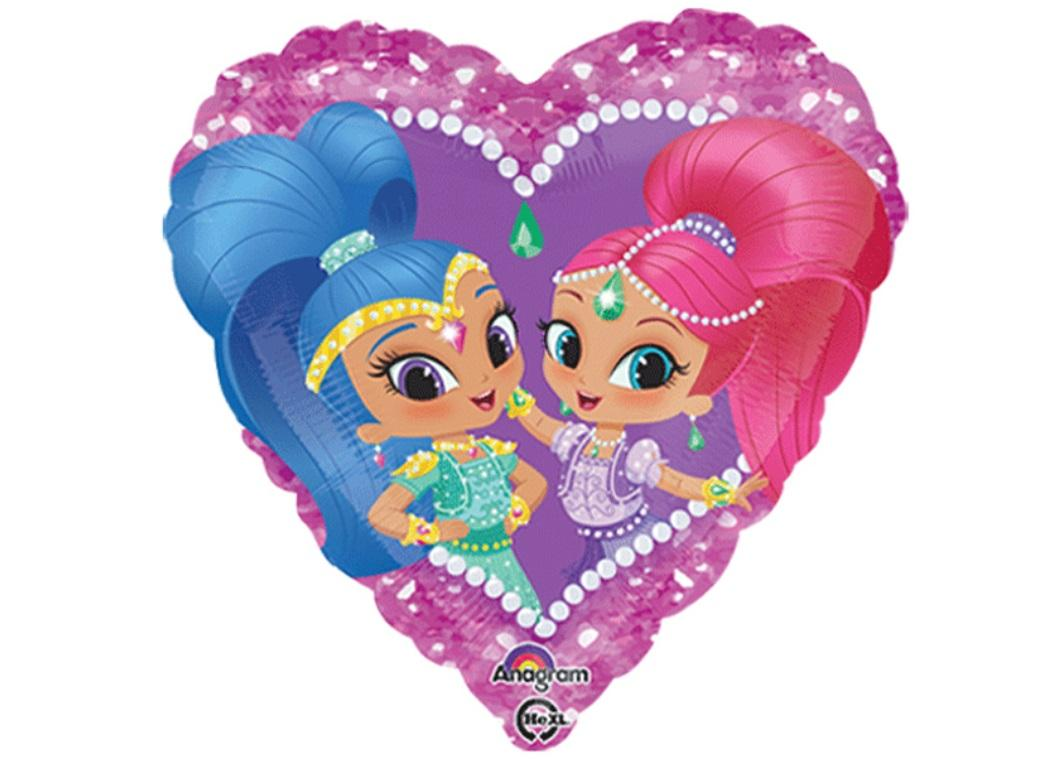 Shimmer & Shine Heart Foil Balloon