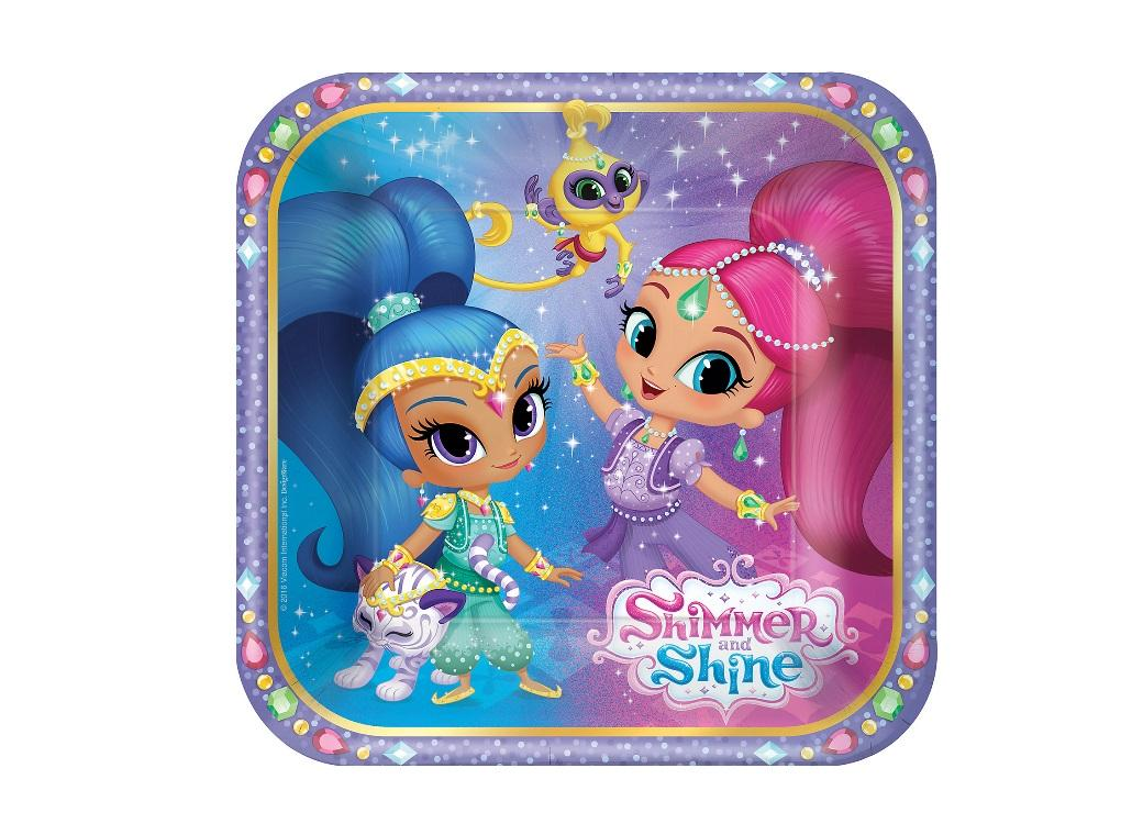 Shimmer & Shine Lunch Plates 8pk
