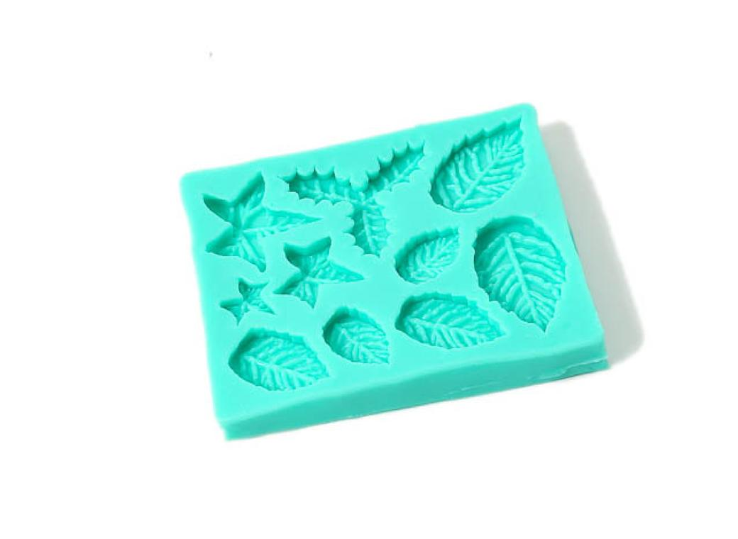 Silicone Mould - Christmas Leaves