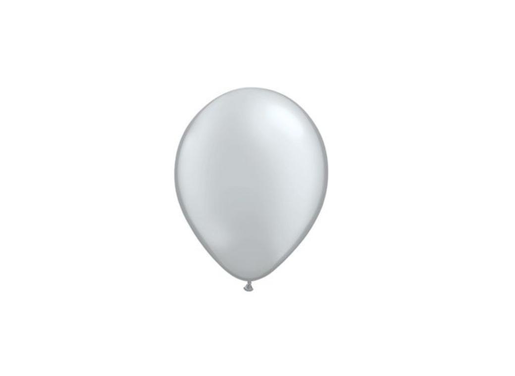 """Silver Metallic Balloons 5"""""""