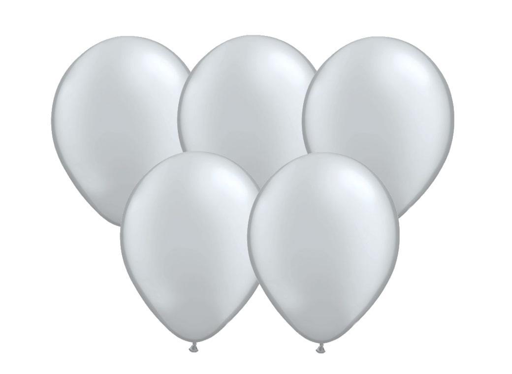 25pk Balloons - Silver