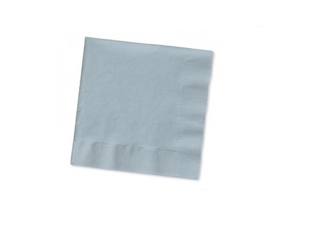 Silver Beverage Napkins 20 Pack