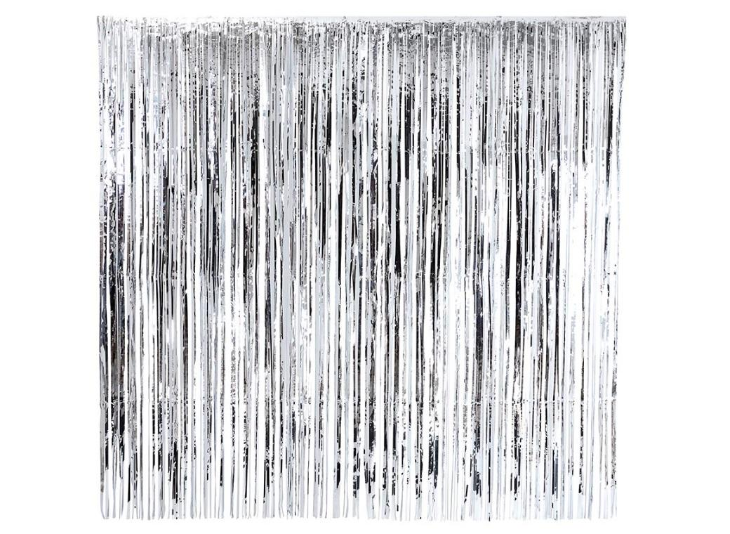 Glitterati Silver Foil Curtain