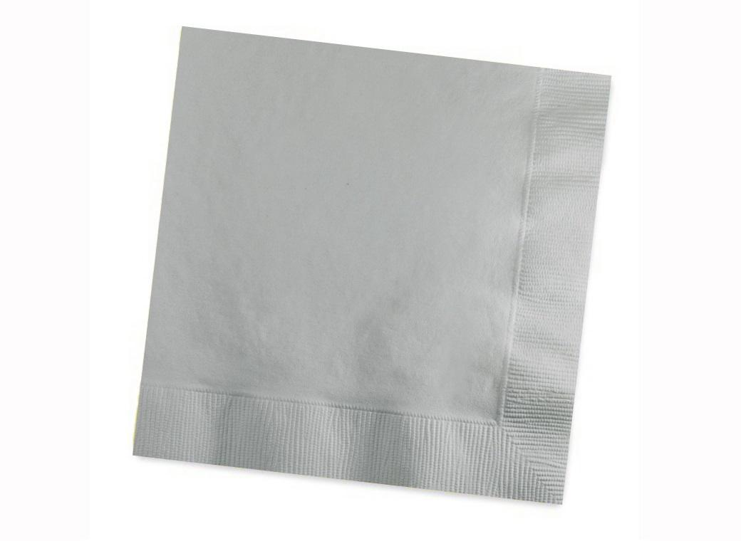 Silver Lunch Napkins 50pk