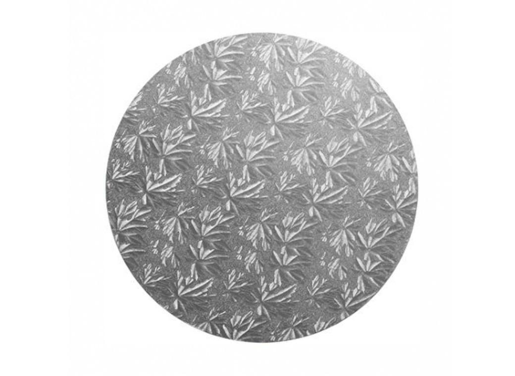 Silver Masonite Round Cake Board 9""