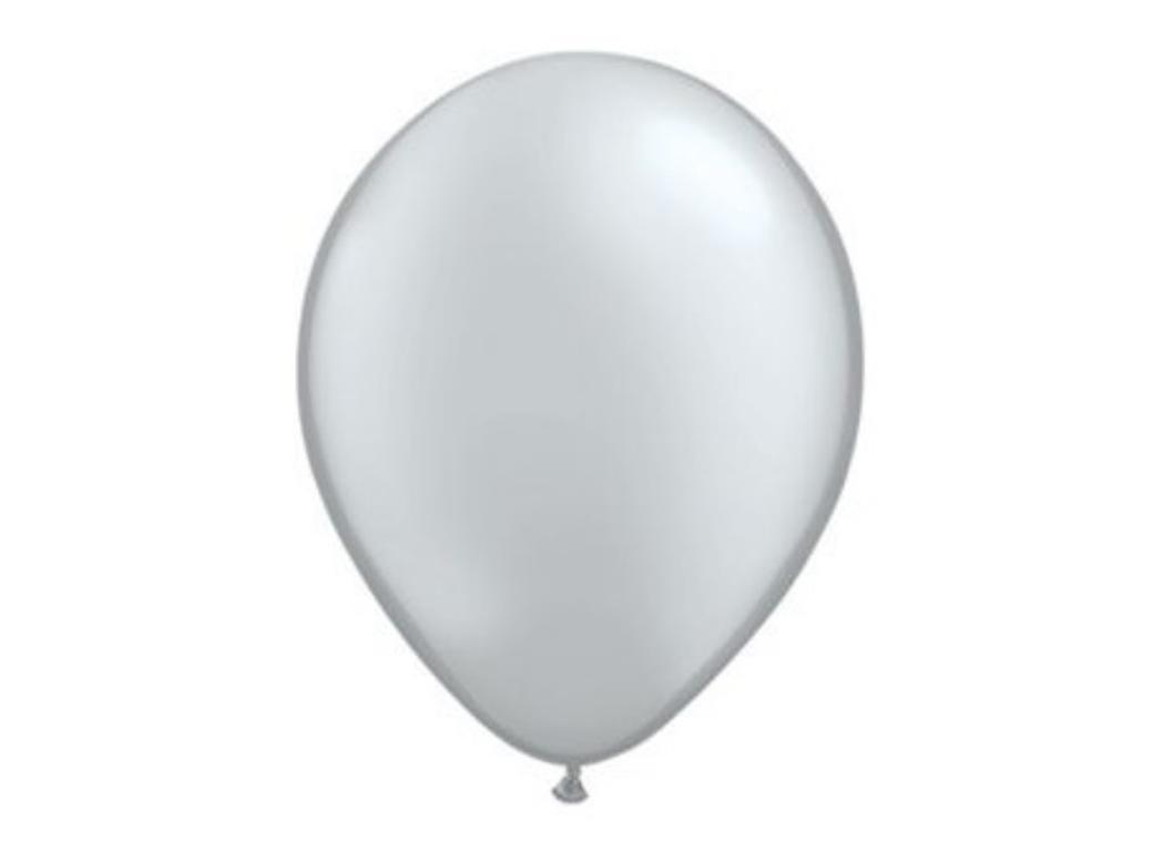 Silver Metallic Balloon - Single