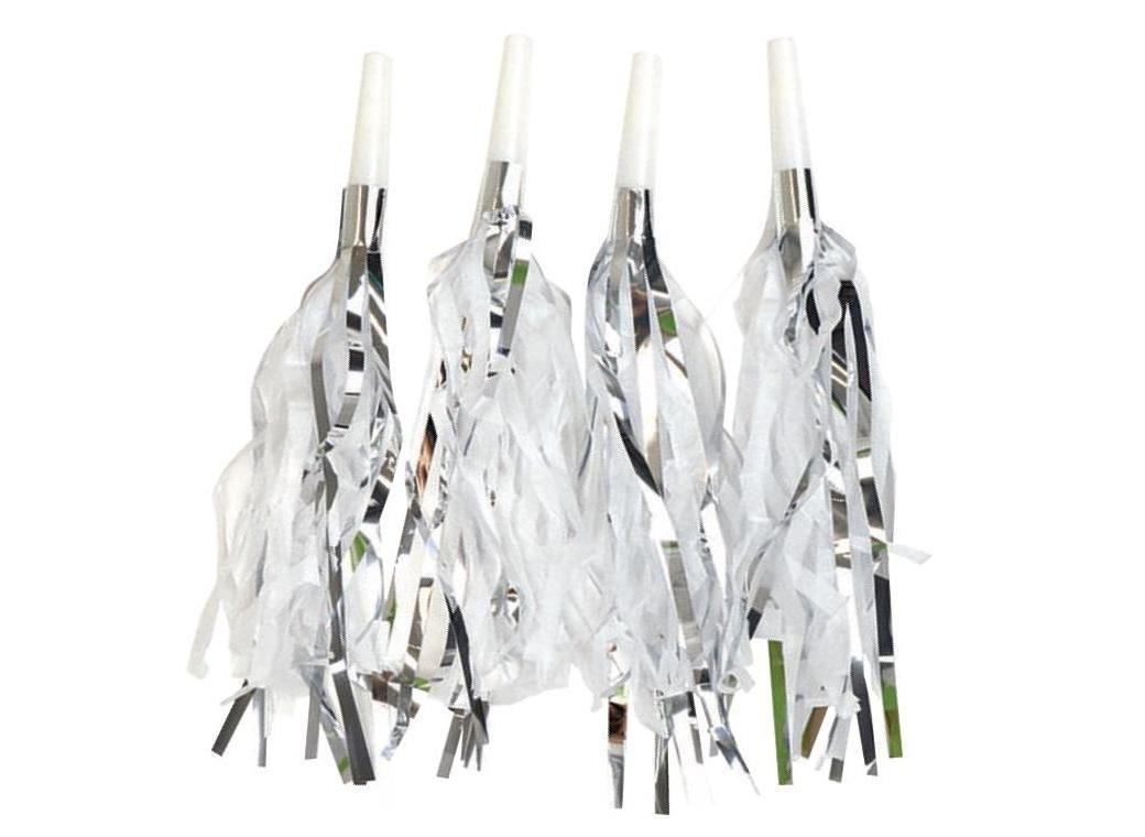 Party Tassel Horns - Silver 4pk