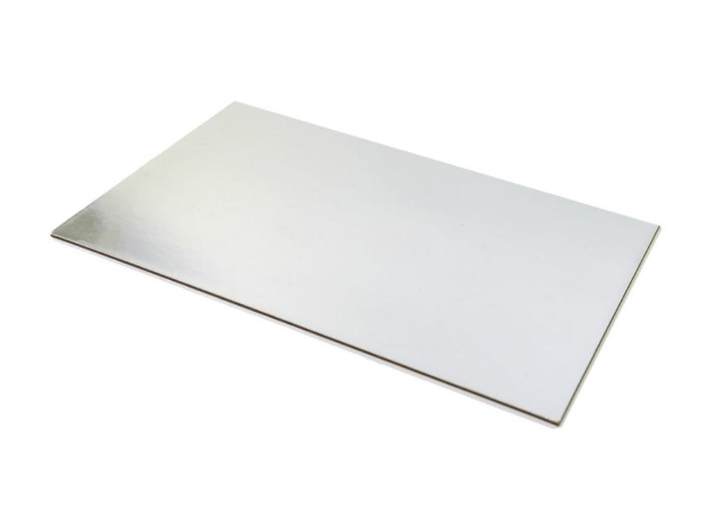 Silver Rectangle Cake Card - Half Slab