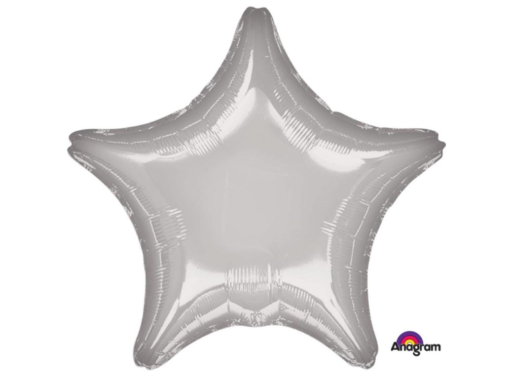Star Shaped Foil Balloon - Silver