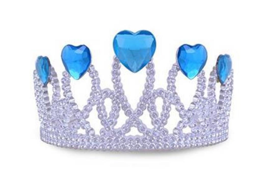Silver Tiara with 5 Heart Gems