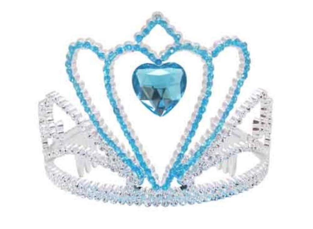 Blue & Silver Tiara with Heart Gem