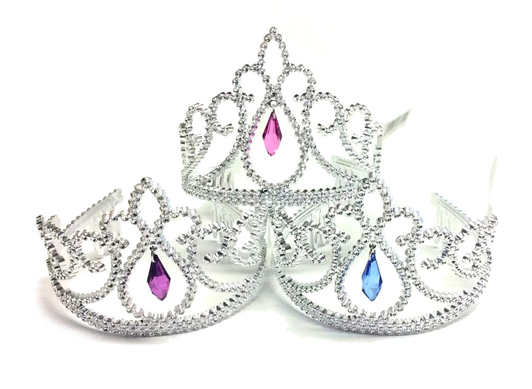 Silver Tiara with Jewel