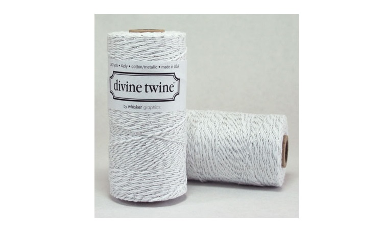 100% Cotton Bakers Twine - Silver Metallic