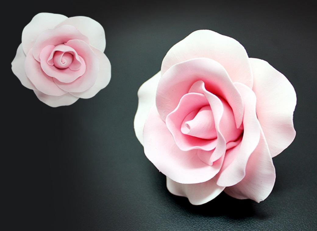 Single Gumpaste Rose Large - Pink