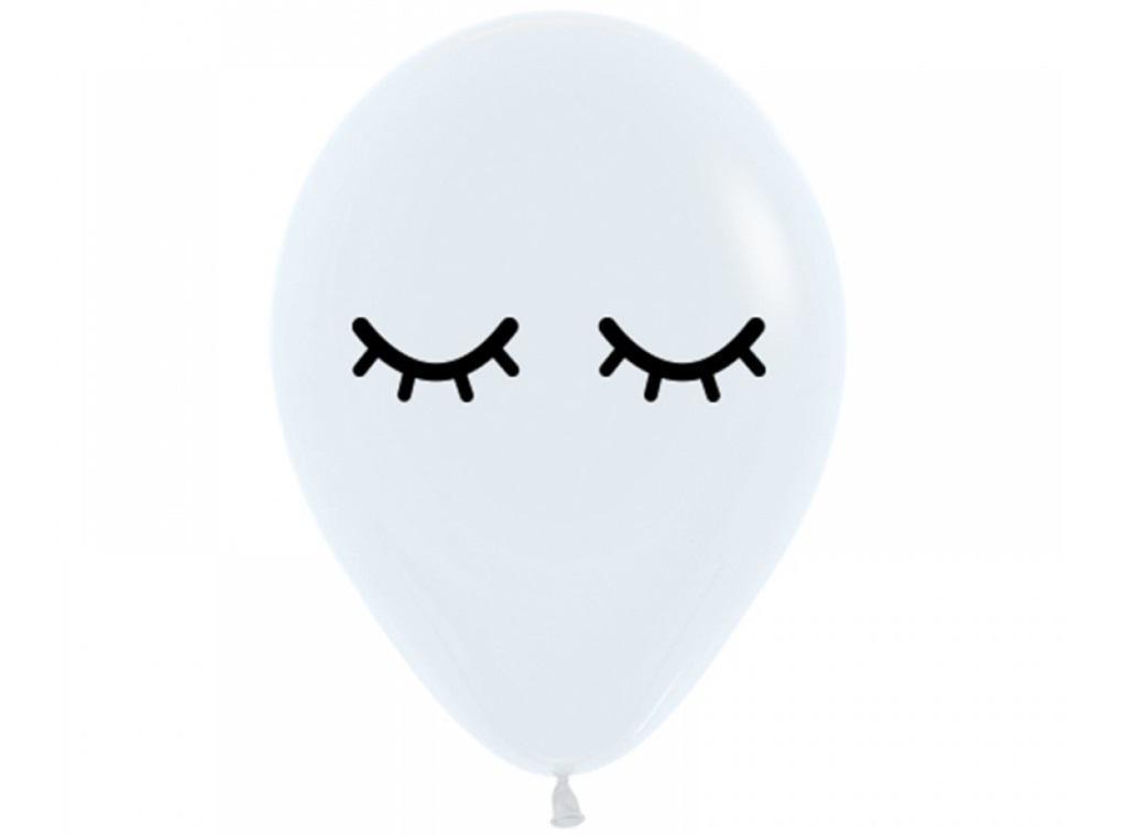 Sleepy Eyes Balloon - Black