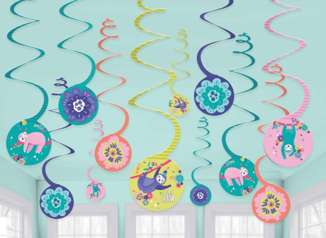 Sloth Hanging Spiral Decorations