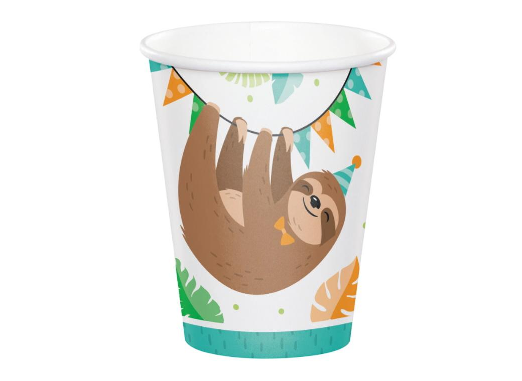 Sloth Party Cups 8pk