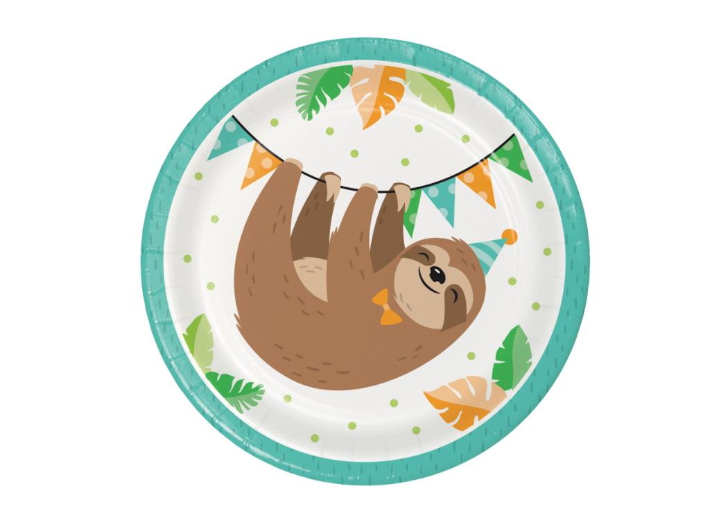 Sloth Party Lunch Plates 8pk
