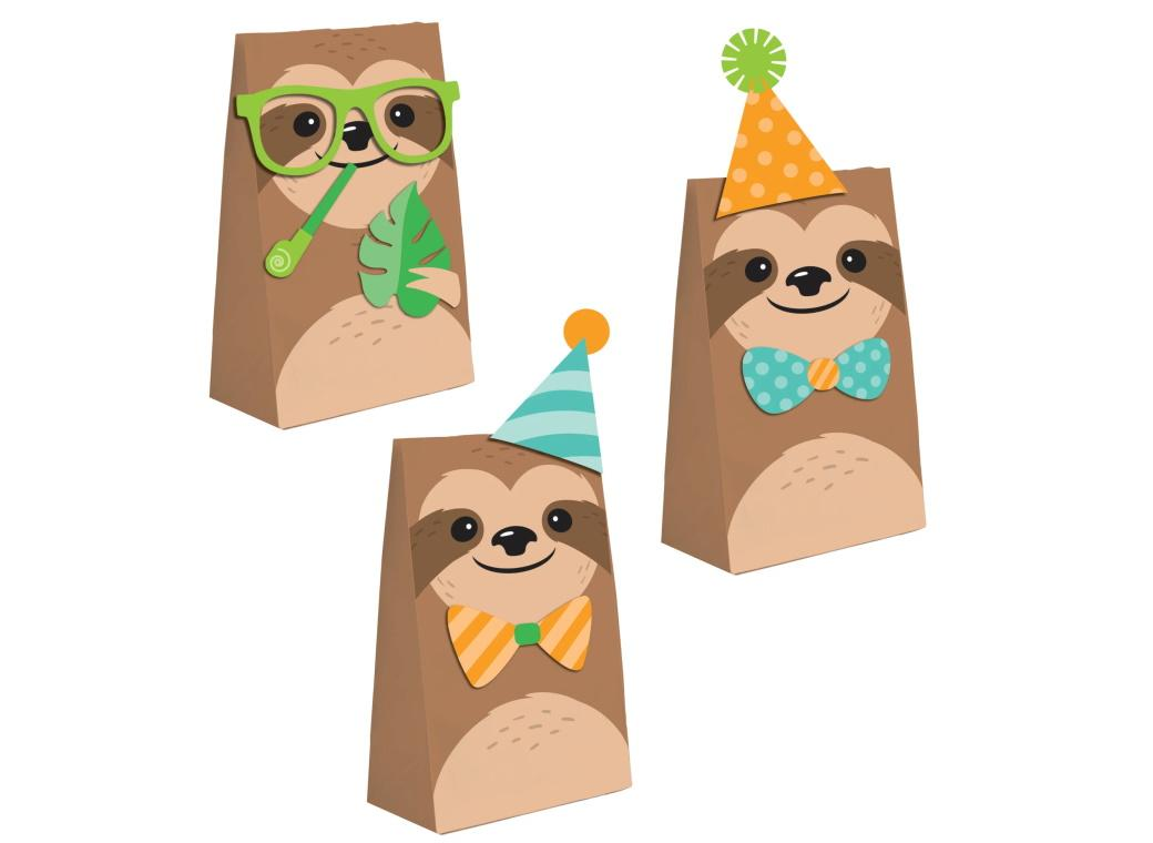 Sloth Party Paper Treat Bags 8pk