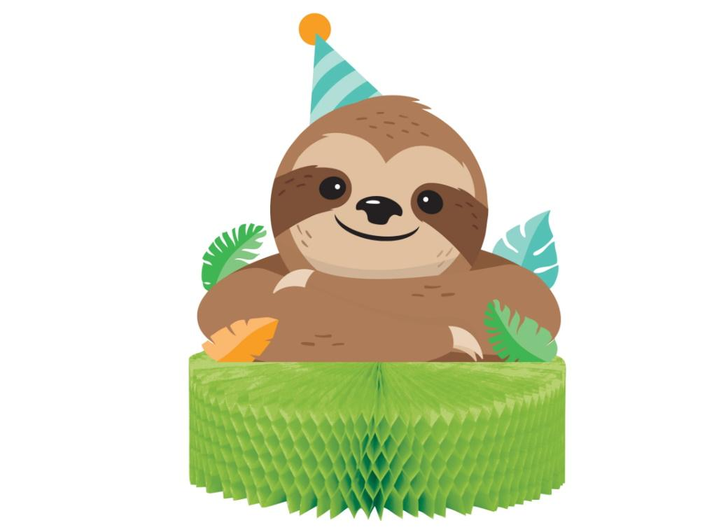 Sloth Party Table Centrepiece