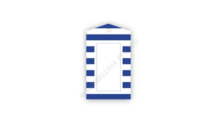 Sambellina Gift Tags - Navy Stripes