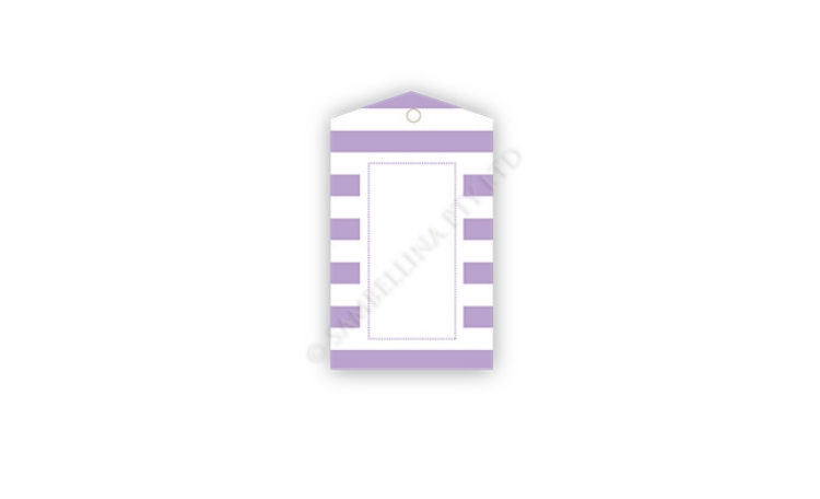 Sambellina Gift Tags - Lavender Stripes