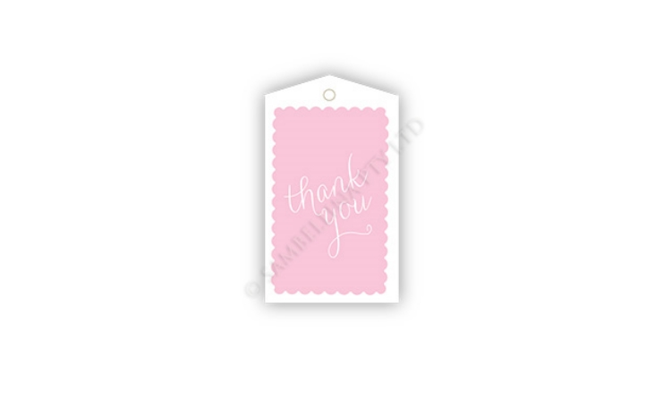 Sambellina Gift Tags - Scallop Pink Thank You